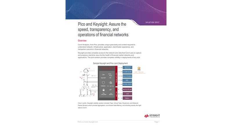 Pico and Keysight: Assure the speed, transparency, and operations of financial networks