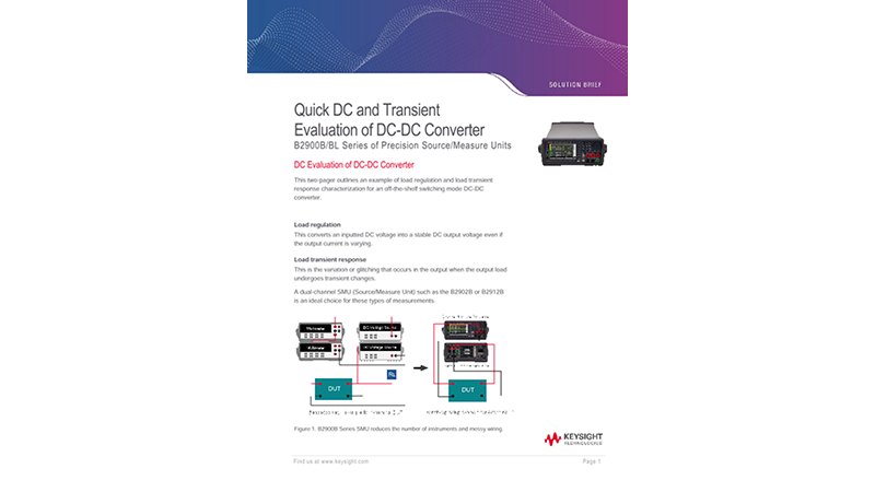 Quick DC and Transient Evaluation of DC-DC Converter