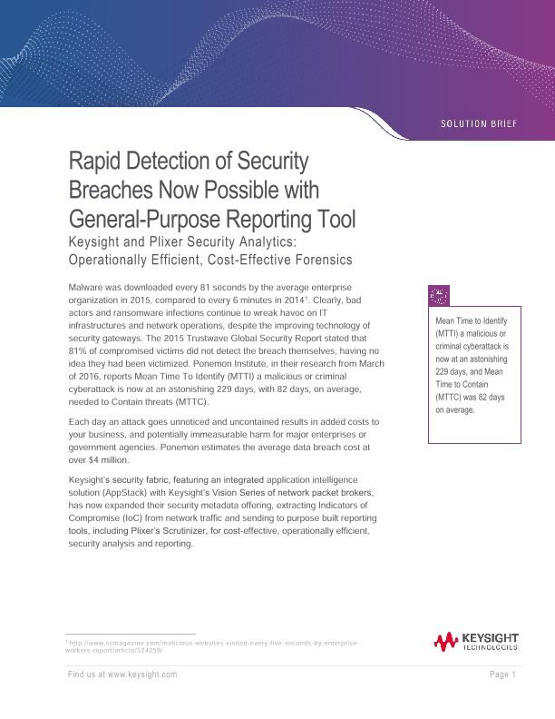 Rapid Detection of Security Breaches Now Possible with General-Purpose Reporting Tool