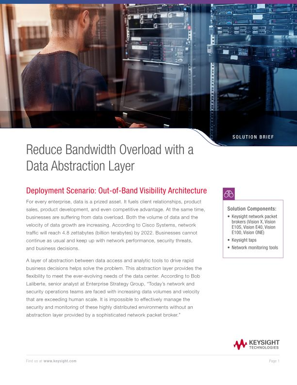 Reduce Bandwidth Overload with a Data Abstraction Layer