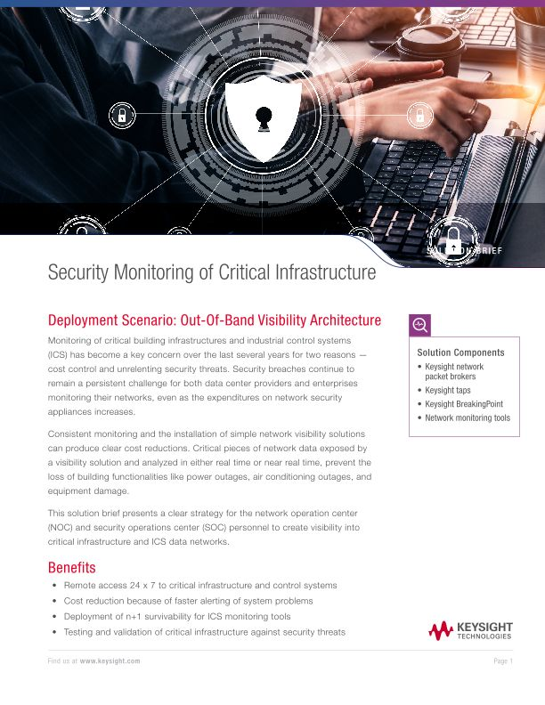 Security Monitoring of Critical Infrastructure
