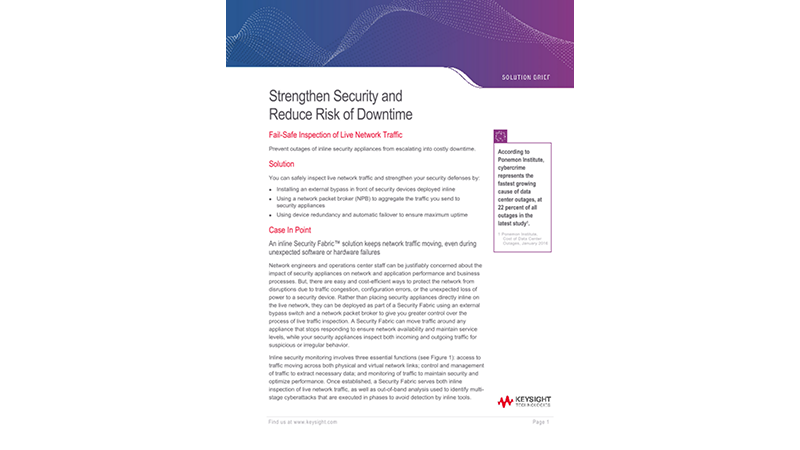 Strengthen Security and Reduce Risk of Downtime