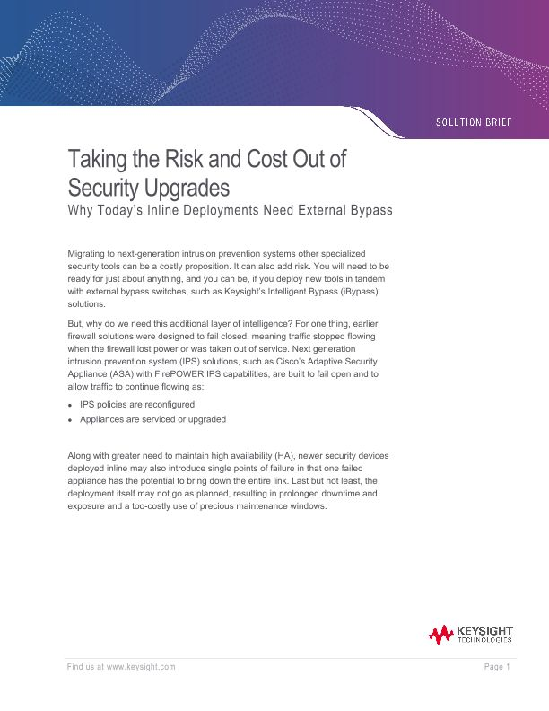 Taking the Risk and Cost Out of Security Upgrades