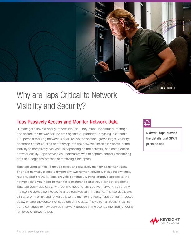 Why are Taps Critical to Network Visibility and Security?