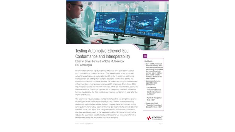 Testing Automotive Ethernet Ecu Conformance And Interoperability