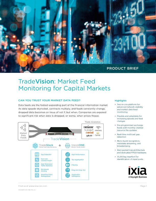 TradeVision: Market Feed Monitoring for Capital Markets