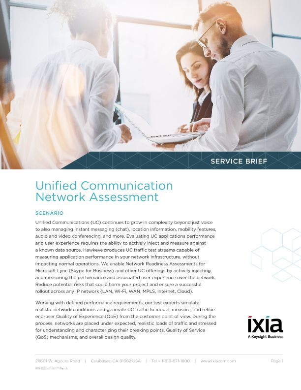 Unified Communication Network Assessment