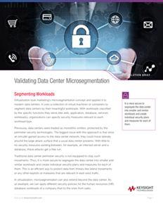 Validating Data Center Microsegmentation