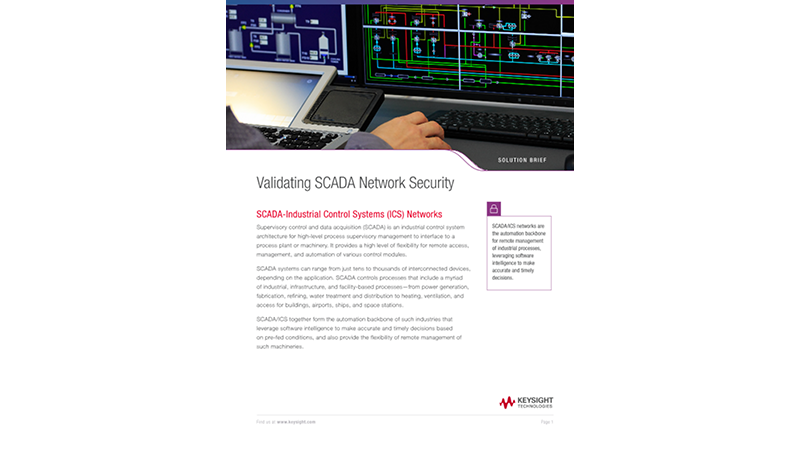 Validating SCADA Network Security