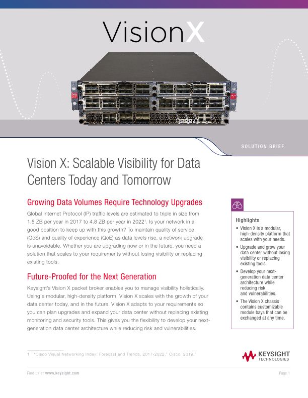Vision X: Scalable Visibility for Data Centers Today and Tomorrow