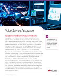 Voice Service Assurance