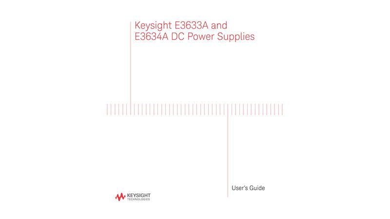 E3633A and E3634A DC Power Supplies User's Guide