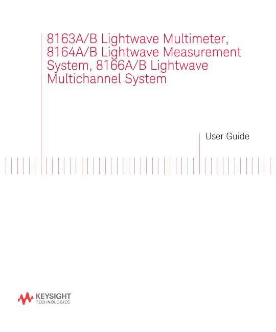 8163A/B, 8164A/B, and 8166A/B Users Guide