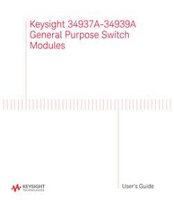 34937A-34939A General Purpose Switch Modules - User's Guide