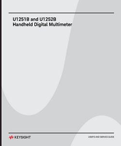U1251B and U1252B Handheld Digital Multimeter User and Service Guide