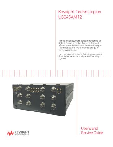 Keysight Technologies U3045AM12 - User's and Service Guide | Keysight