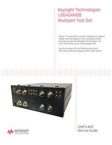 Keysight Technologies U3045AM08 Multiport Test Set - User and Service Guide