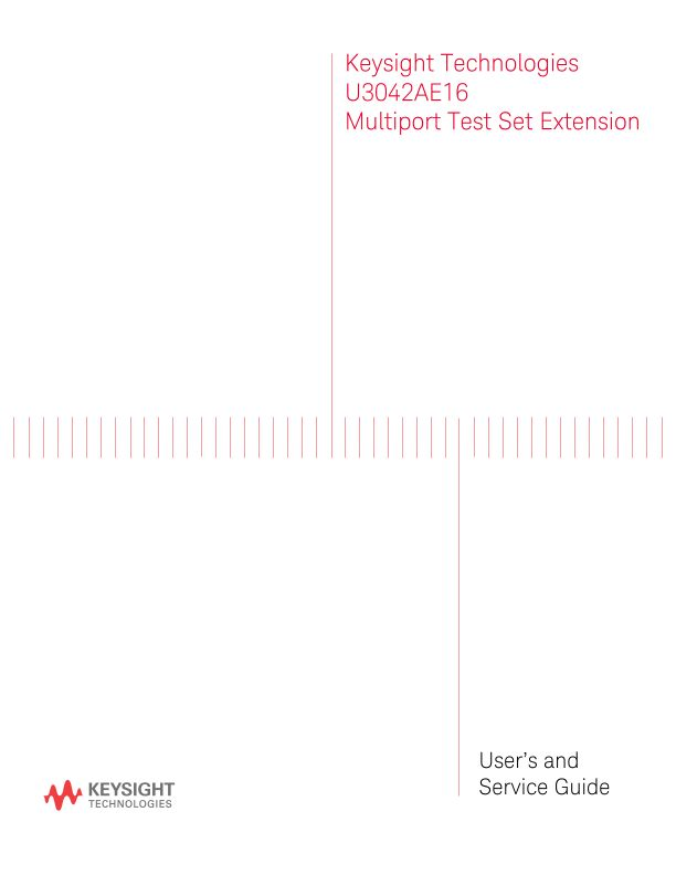 U3042AE16 Multiport Test Set Extension - User and Service Guide