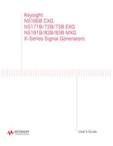X-Series Signal Generators User's Guide