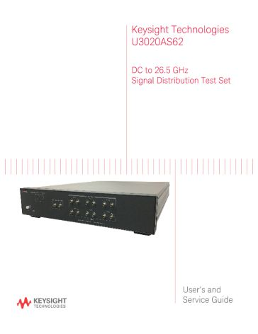 U3020AS62 User and Service Guide | Keysight