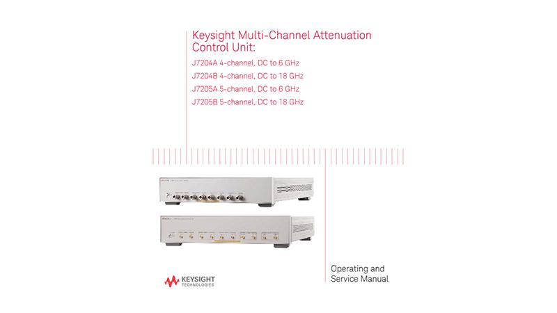 J7204A, J7204B, J7205A and J7205B Multi-Channel Attenuation Control Unit Operating and Service Manual