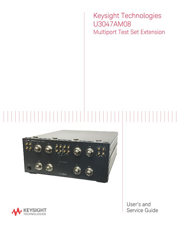 U3047AM08 Multiport Test Set Extension User and Service Guide