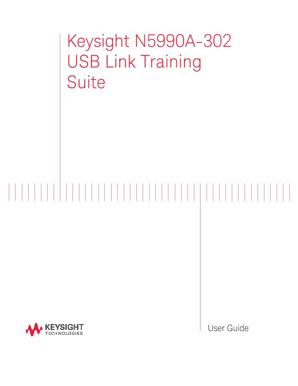 Keysight N5990A USB Link Training Suite User Guide