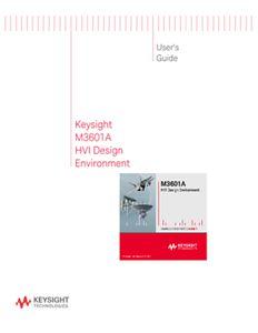 M3601A HVI Design Environment User's Guide