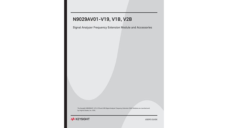 Keysight Technologies N9029AV01-V15, V1B, V2B Signal Analyzer Frequency Extension Module and Acc