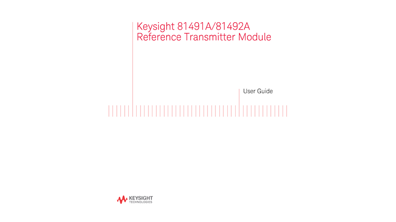 81491A/81492A Reference Transmitter Module User Guide