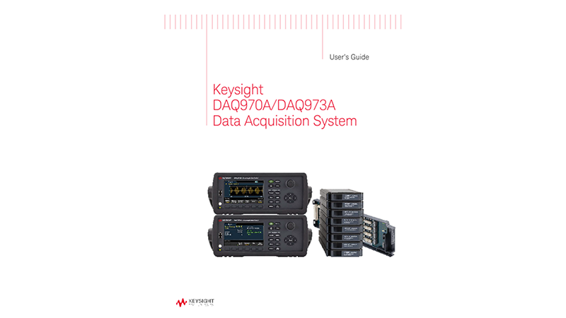 DAQ970A/DAQ973A Data Acquisition System User's Guide (English, French and Spanish)