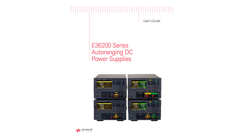E36200 Series Autoranging DC Power Supplies User Guide (English and French)