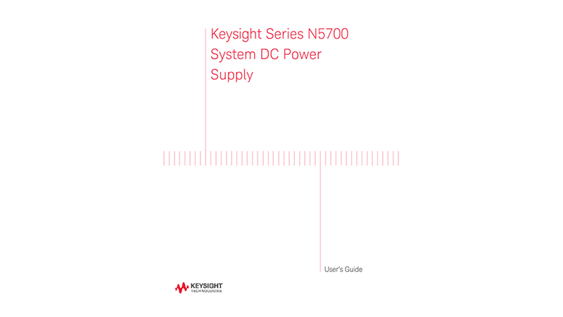 N5700 System DC Power Supply User's Guide