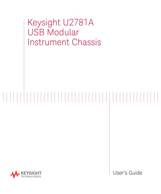 U2781A USB Modular Instrument Chassis User's Guide (English, Italian, Spanish and French)