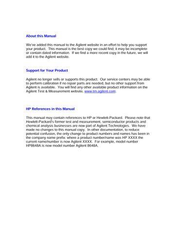 8753E Network Analyzer User's Guide (Feb99) | Keysight