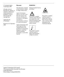 OmniBER 718 SONET User Guide, 37718-90218   Keysight