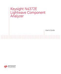 N4372E Lightwave Component Analyzer User's Guide