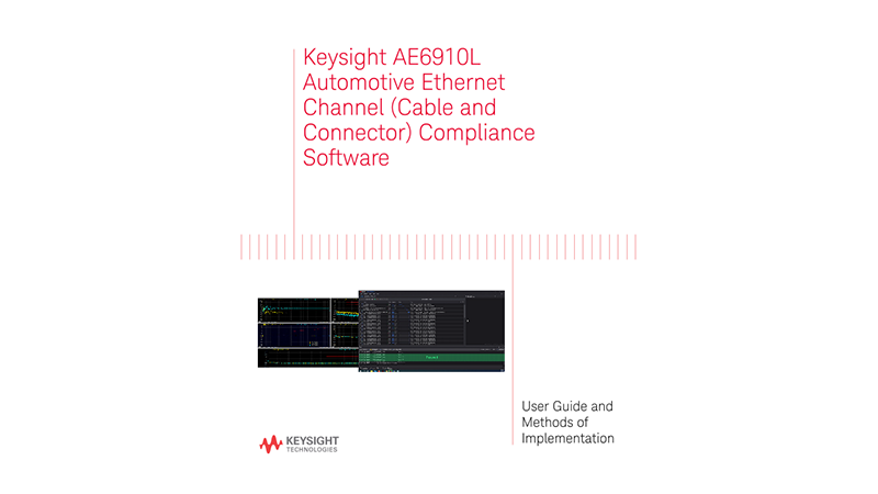 AE6910L Automotive Ethernet Channel Compliance Software User Manual