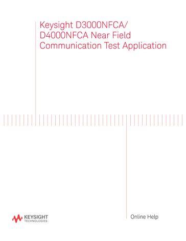 Online Help, Automated NFC Test Software (PDF Version) | Keysight