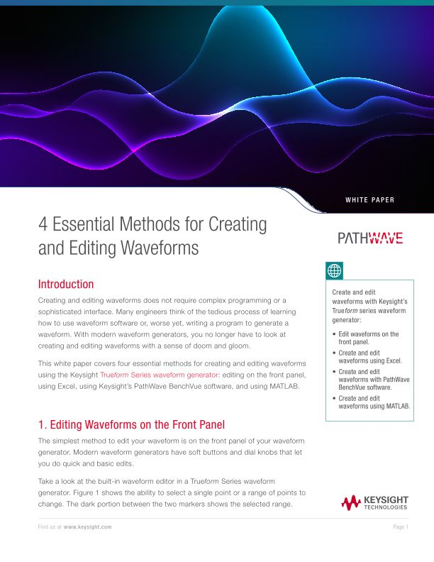 4 Essential Methods for Creating and Editing Waveforms