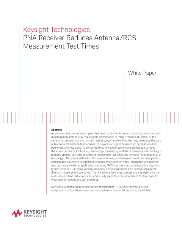 PNA Receiver Reduces Antenna/RCS Measurement Test Times