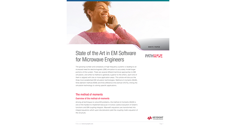 State of the Art in EM Software for Microwave Engineers