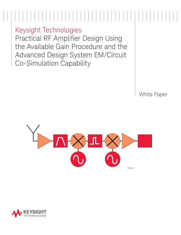 Practical RF Amplifier Design Using the Available Gain Procedure and the Advanced Design System EM