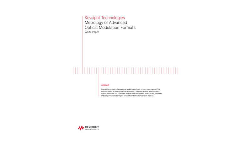 Metrology of Optical Modulation Formats