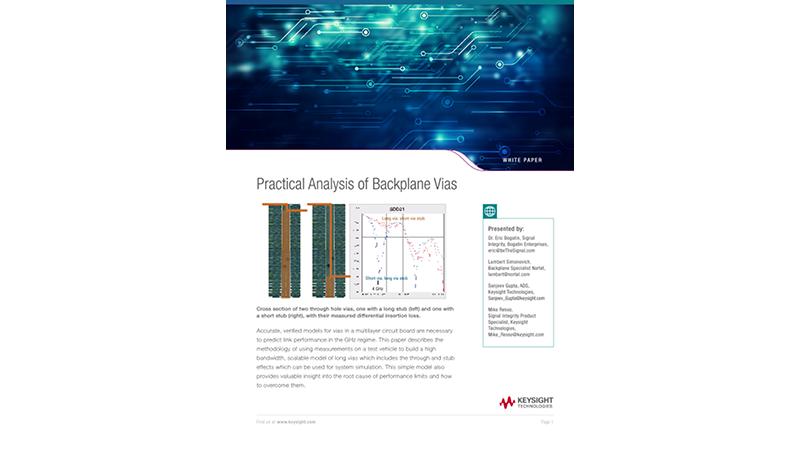 Practical Analysis of Backplane Vias