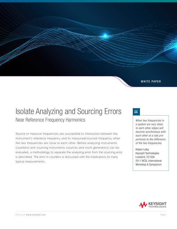 Isolate Analyzing and Sourcing Errors