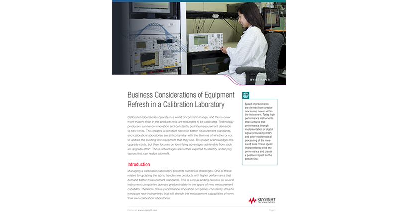 Equipment Refresh in a Calibration Laboratory