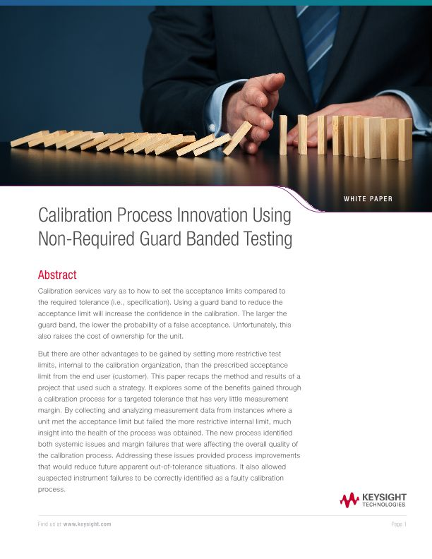 Calibration Process Innovation Using Non-Required Guard Banded Testing