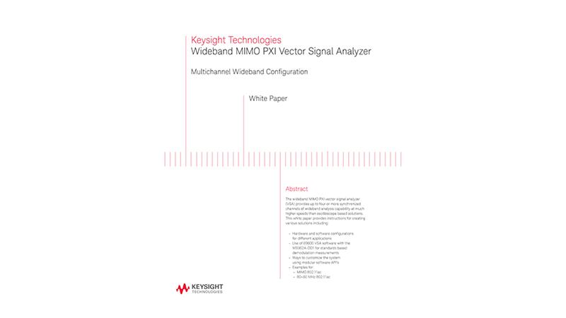 Wideband MIMO PXI Vector Signal Analyzer