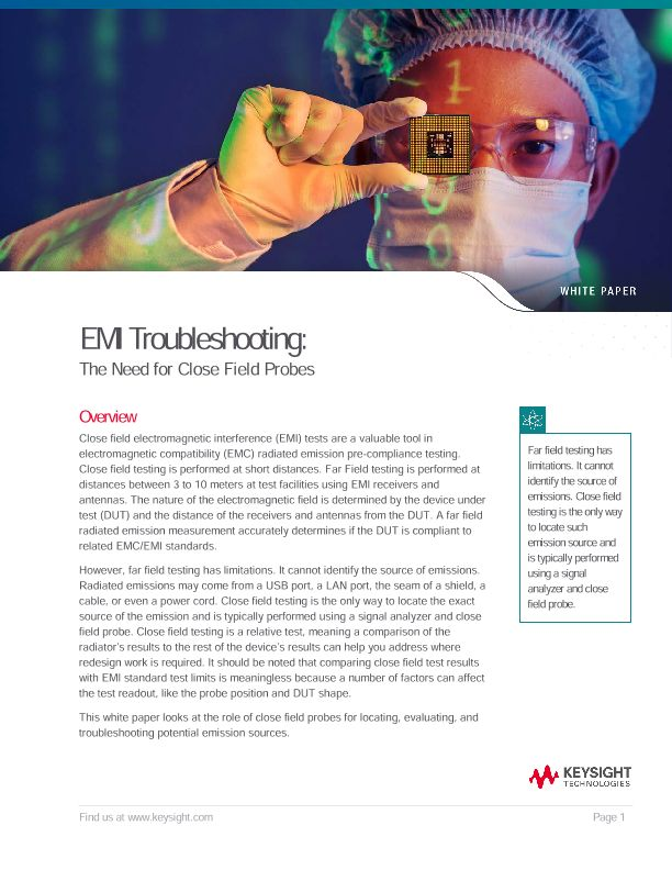 EMI Troubleshooting: The Need for Close Field Probes
